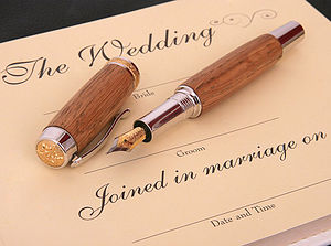 Whiskey Barrel 'Wedding' Register Pen