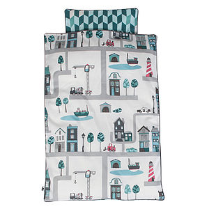Bed Linen With Village Design