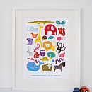 Personalised Children's Animal Alphabet Print