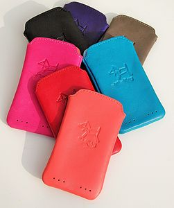 Soft Leather Mobile Phone Case - bags & purses