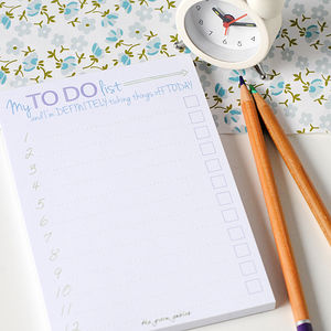To Do List Note Pads - notepads & to do lists