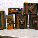 Vintage Letterpress Printers Blocks: Small