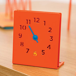 Desk Clock, Orange - desk accessories