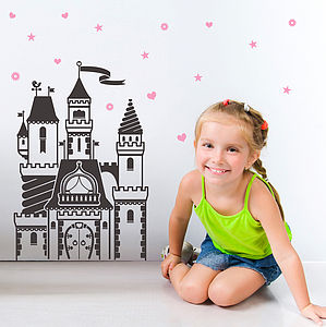Magical Fairytale Castle Wall Sticker - wall stickers