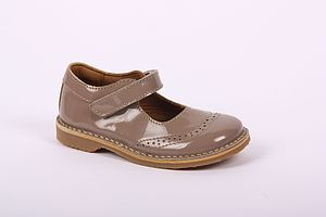 Bisgaard Brogue Dolly Shoe In Mulatto - baby & child