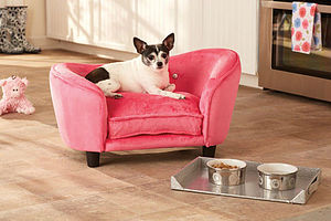 Hot Pink Luxury Small Dog Bed - dogs