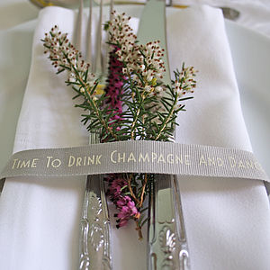 'Time To Drink Champagne' Ribbon