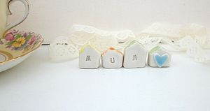 A Set Of Four Teeny Tiny Houses - ceramics
