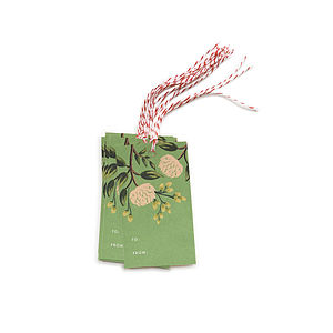 Peony Gift Tag Set Of 10 - wedding stationery