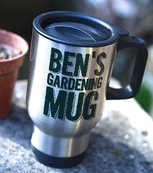 Personalised Gardening Travel Mug