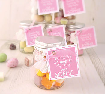 Personalised Thank You Sweetie Jars X5