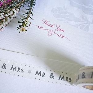 Mr And Mrs Washi Tape - diy wedding stationery