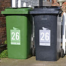 'Wheelie Bin' Vinyl Sticker