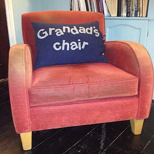 Grandad's Chair Cushion - personalised cushions