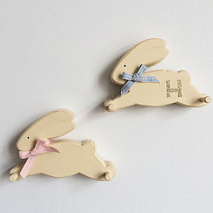 Personalised Bunny Peg Rack - home accessories
