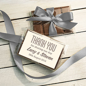 Mini Chocolate Bar Wedding Favour - personalised