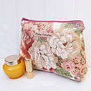 Make Up Bag Vintage Rose And Peony Print