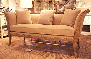 French Wood Framed Sofa