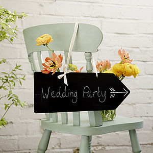 Arrow Chalkboard - outdoor wedding signs
