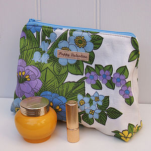Make Up Bag Sixties Floral - make-up bags