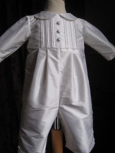 Boy's Christening Romper 'Lawrence'