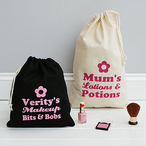 Personalised Makeup And Travel Bag - bags & purses