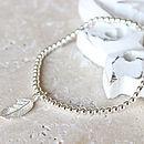 Feather Charm Bracelet
