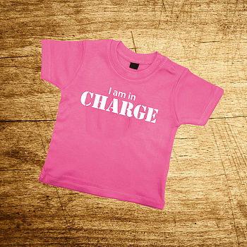 'I Am In Charge' Navy Or Pink T Shirt