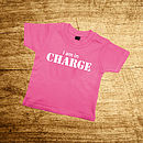 I Am In Charge Navy Or Pink T Shirt