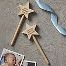 Personalised Christening Keepsake Star Wand