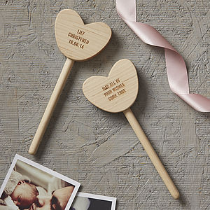 Personalised Christening Keepsake Heart Wand - keepsakes