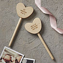 Personalised Christening Keepsake Heart Wand