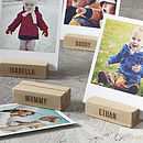 Thumb personalised family tree wooden photo blocks