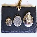 3 sizes of locket