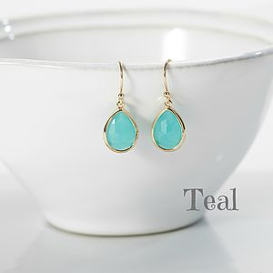 Little Gold Plated Teardrop Earrings - gifts for her