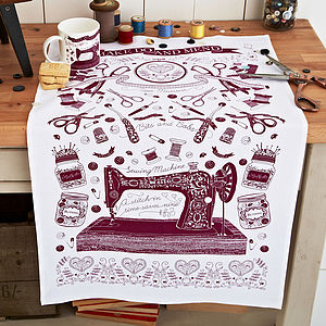 Sewing Cotton Tea Towel - tea towels