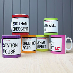 Personalised 'Street Sign' Mugs - dining room