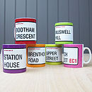 Personalised 'Street Sign' Mugs