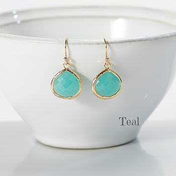 Little Gold Pear Drop Earrings