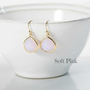 Little Gold Pear Drop Earrings - earrings