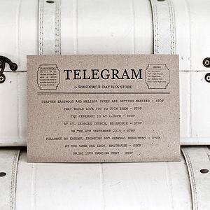 Telegram Style Wedding Invitation And Rsvp