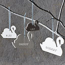 Personalised Swan Family Decorations