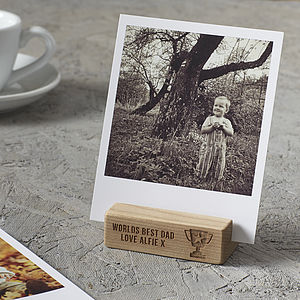 Personalised 'Worlds Best Dad' Photo Block - token gifts for dad