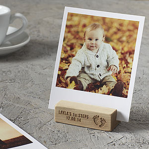 Personalised Baby's First Steps Photo Block - pictures & prints for children