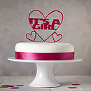 'It's A Girl!' Gender Reveal Cake Topper