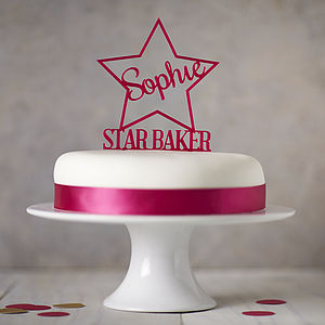 Personalised Star Baker Cake Topper - kitchen accessories