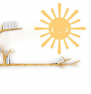 Happy Sun Wall Sticker Decal - bedroom