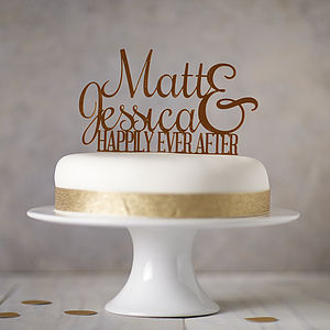 Personalised Ever After Cake Topper - cake decoration