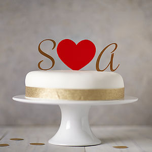 Personalised Monogram Cake Toppers - cake toppers & decorations