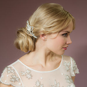 Ellie Crystal And Pearl Hair Comb